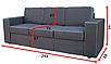 Прямой диван Аскольд 3-В Вика (раскладной), фото 6