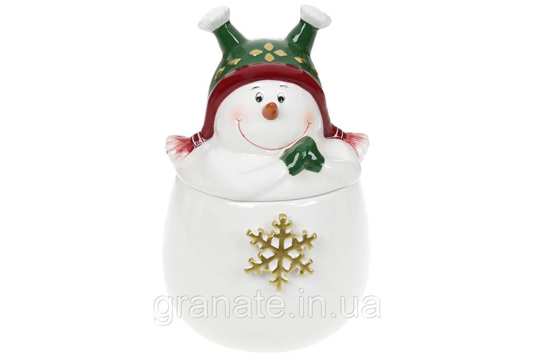 Банка керамическая Снеговик 550мл