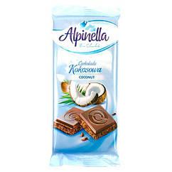 Alpinella шоколад молочний з кокосом 90 грам