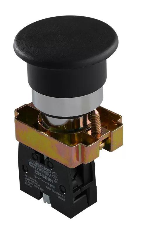 "XB2-BC21 Кнопка ""грибок"" (d 40 мм) ""Старт"" черная (A0140010080)"