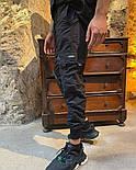Спортивные штаны мужские карго брюки легкие весна-осень-лето с карманами черные Турция. Живое фото, фото 2