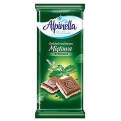 Молочний шоколад з м'ятою Alpinella 90 грам
