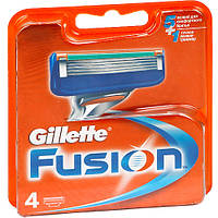 Мужские сменные лезвия, катриджы, кассеты для бритья Gillette Fusion  4 шт