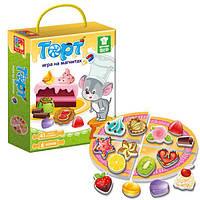 Игра магнитная Торт на русском, Vladi Toys SKL11-218932