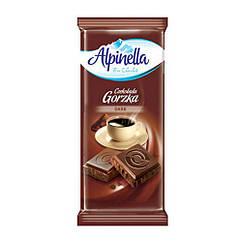 Alpinella чорний шоколад без добавок 90 грам