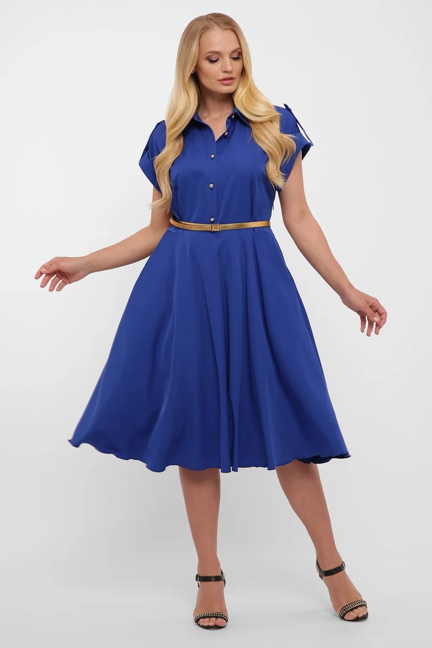Платье Альмира электрик 48-56