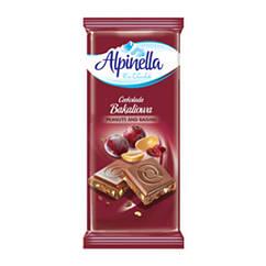 Молочний шоколад з горіхами і родзинками Alpinella 90 грам