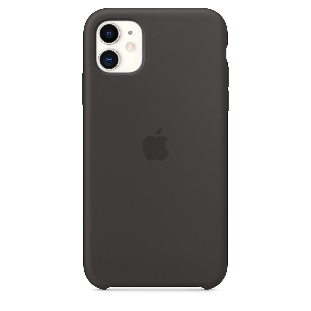 Силіконовий чохол Apple Silicone Case для iPhone 11 ((MWVU2), Black)