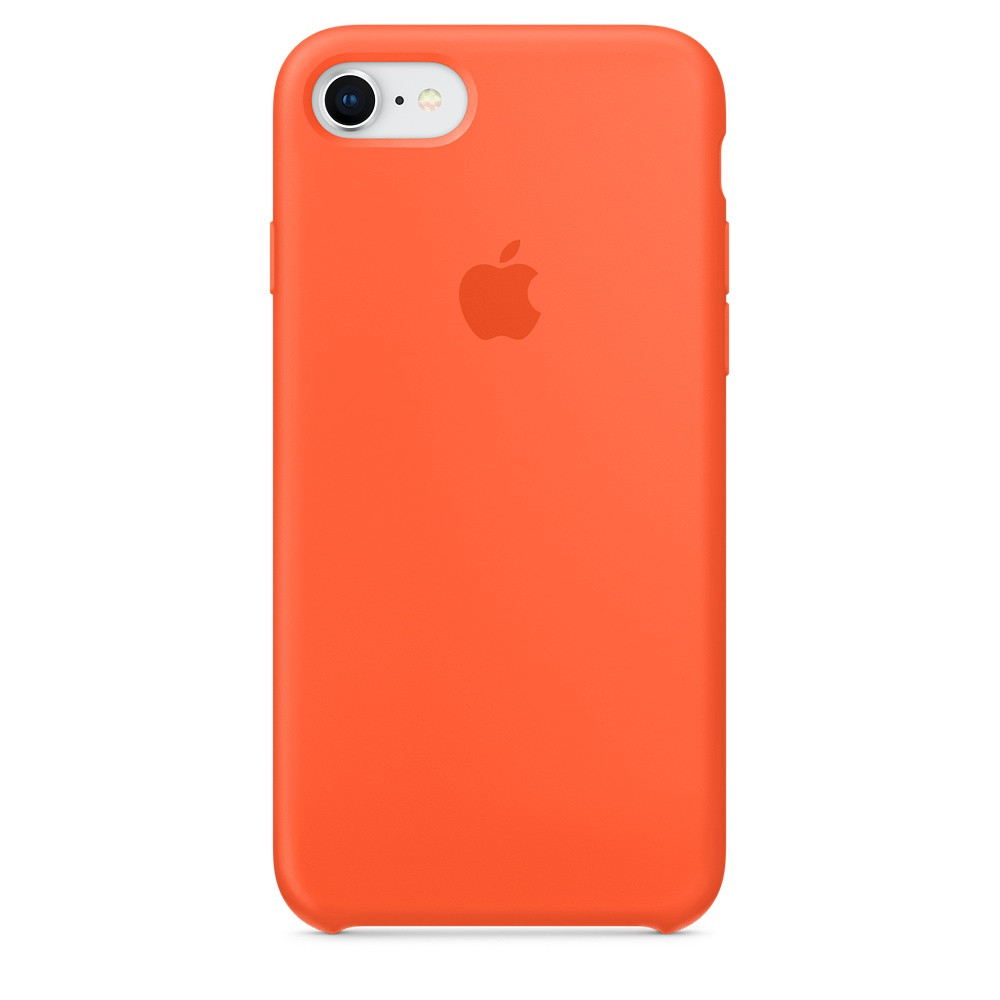 Силиконовый чехол Apple Silicone Case для iPhone 8 / 7 ((MR682), Spicy Orange)
