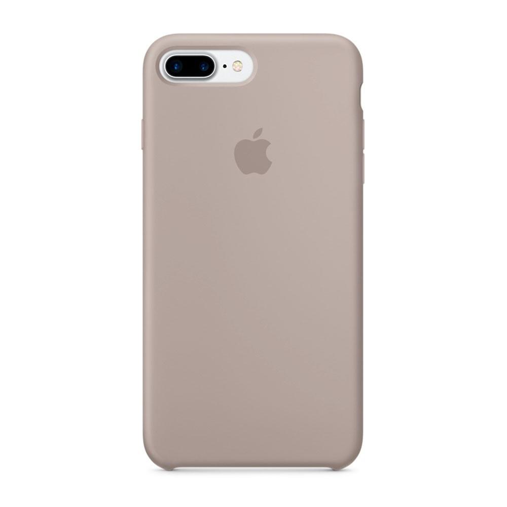 Силиконовый чехол Apple Silicone Case для iPhone 8 Plus / 7 Plus ((MQ0P2), Pebble)