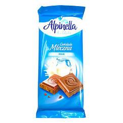 Шоколад молочний без добавок Alpinella 90 грам