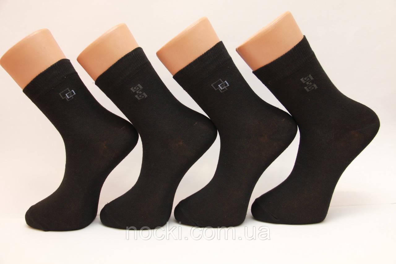 Мужские носки средние стрейчевые Стиль Люкс п/э НЛ 25 черный