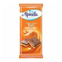Молочний шоколад з карамеллю Toffi Alpinella 90 грам