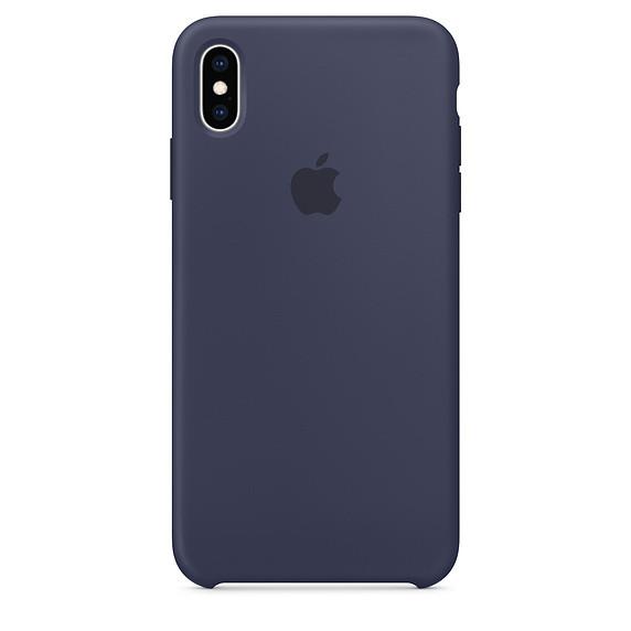 Силиконовый чехол Apple Silicone Case для iPhone XS Max ((MRWG2), Midnight Blue)