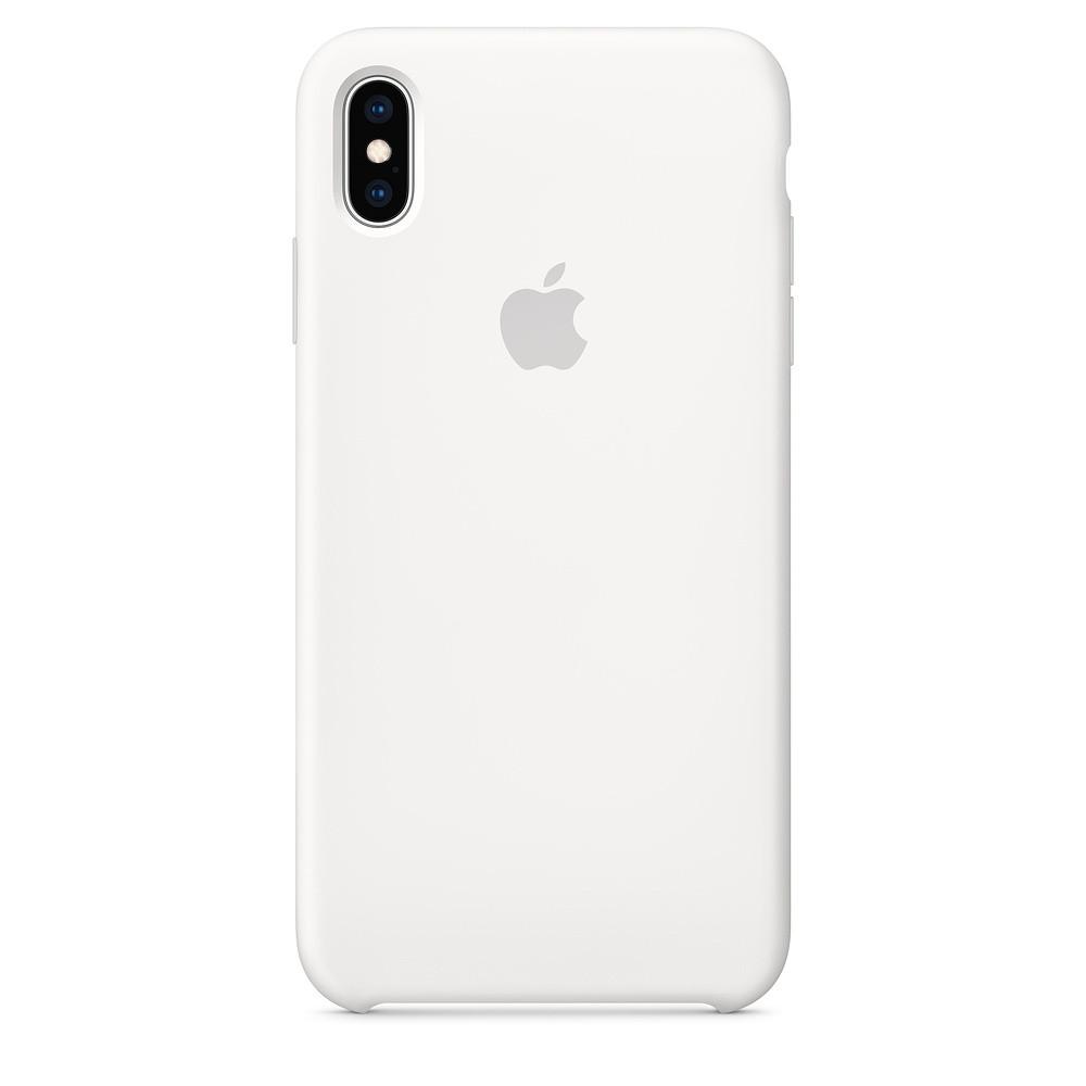 Силиконовый чехол Apple Silicone Case для iPhone XS Max ((MRWF2), White)