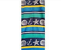 Пляжное полотенце велюр-махра плотность 280 мг\м2 размер 1.4 х 0.7 м морской стиль