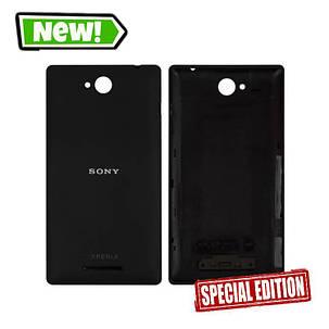 Задняя крышка для SONY Xperia C2305 черная, фото 2