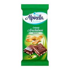 Молочний шоколад з арахісом Альпинелла 90 грам