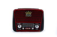 Портативная колонка MP3 USB Golon RX-455S Solar с солнечное панелью Black-Red