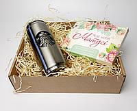 """Подарочный набор """"Мамочке с теплом"""": термокружка с соломинкой, шоколадный набор - Подарок маме на 8 Марта"""