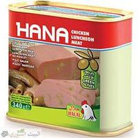 Колбаса Hana куриная с оливками 340 грамм