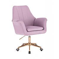 Парикмахерское кресло Hrove Form HR660K, вереск золотая основа, фото 1
