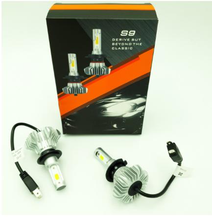 Комплект H7 2 LED лампы светодиодные головного света с радиатором