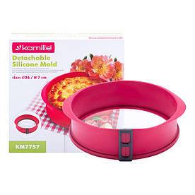 Форма силиконовая Kamille круглая 26*7см со стеклянным дном KM-7757