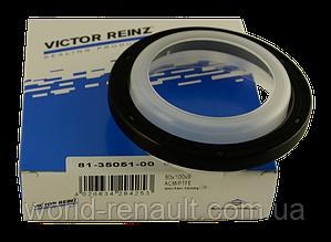 VICTOR REINZ(Германия) 81-35051-00 - Сальник коленвала задний на Рено Сценик II K9K 1.5dci+K4М 1.6i 16V
