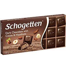 Чорний шоколад Schogetten з какао і лісовими горіхами 100 грам