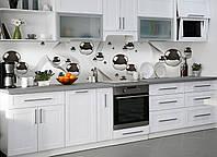 """Скинали на кухню Zatarga """" Стальные шары"""" 600х3000 мм серый виниловая 3Д наклейка кухонный фартук"""