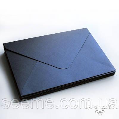 Конверт 205x140 мм, колір сапфір (sapphire)