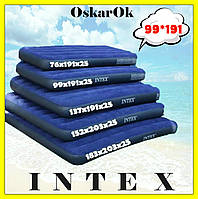 Надувной матрас (матрац) INTEX полуторный, 99*191*25, надувная кровать, матрас в палатку, пляжный, для сна