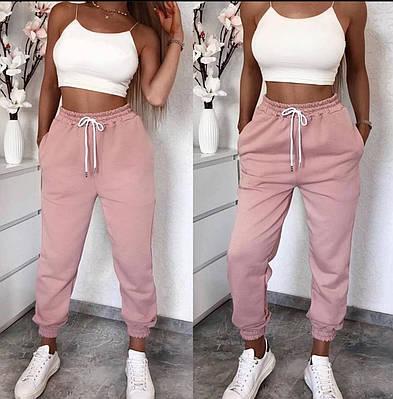 Стильные женские штаны из двунитки в спортивном стиле