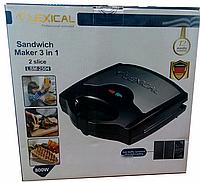 Мультимейкер 3в1 гриль вафельница сендвичница LEXICAL LSM-2504 / 800Вт