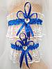 Подвязка для невесты кружевная белая, фото 3