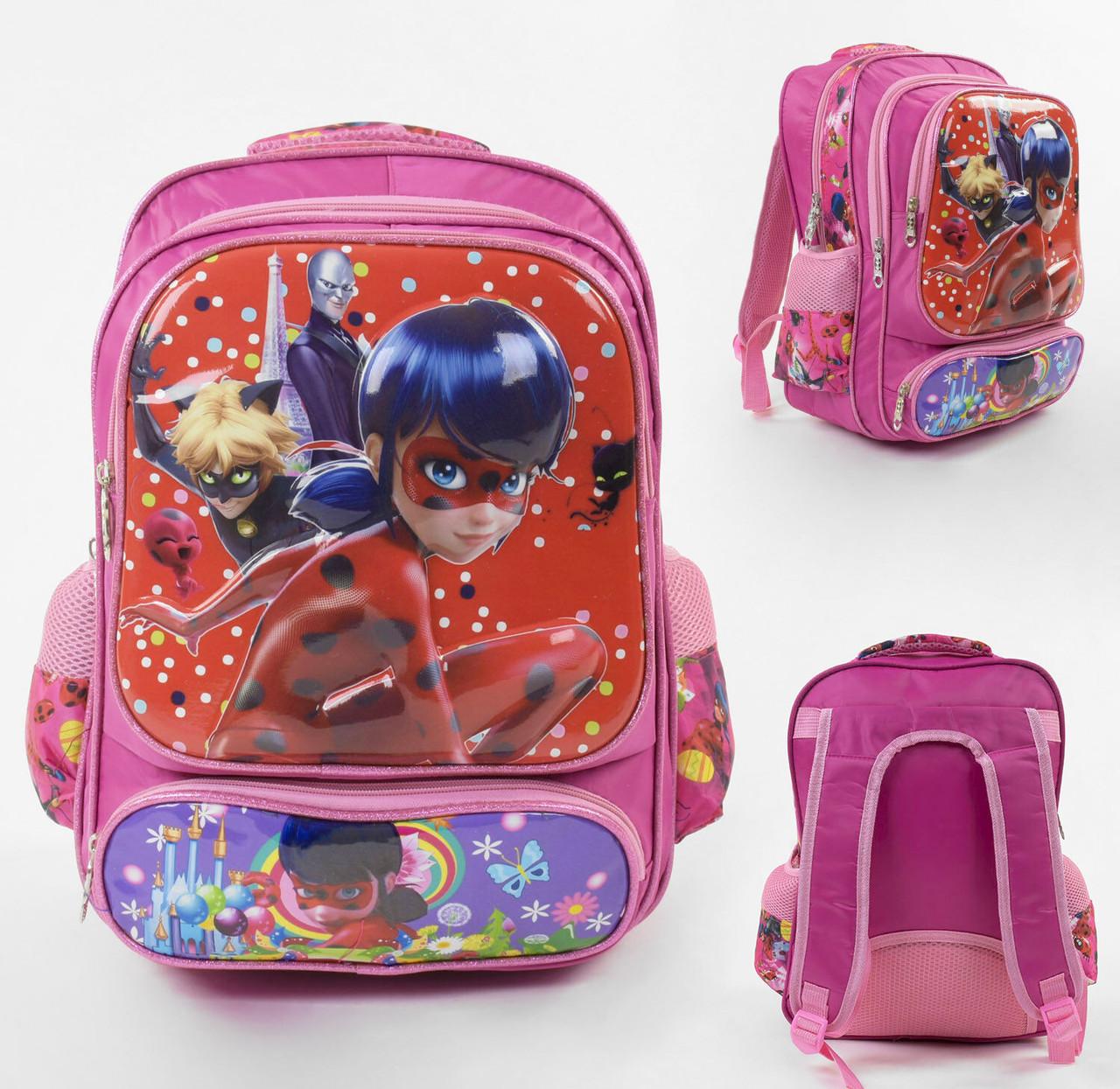 + Подарок Рюкзак школьный 3D рисунок, 2 отделение, 3 кармана, в пакете