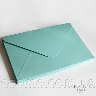 Конверт 205x140 мм, колір зелено-блакитний (teal)