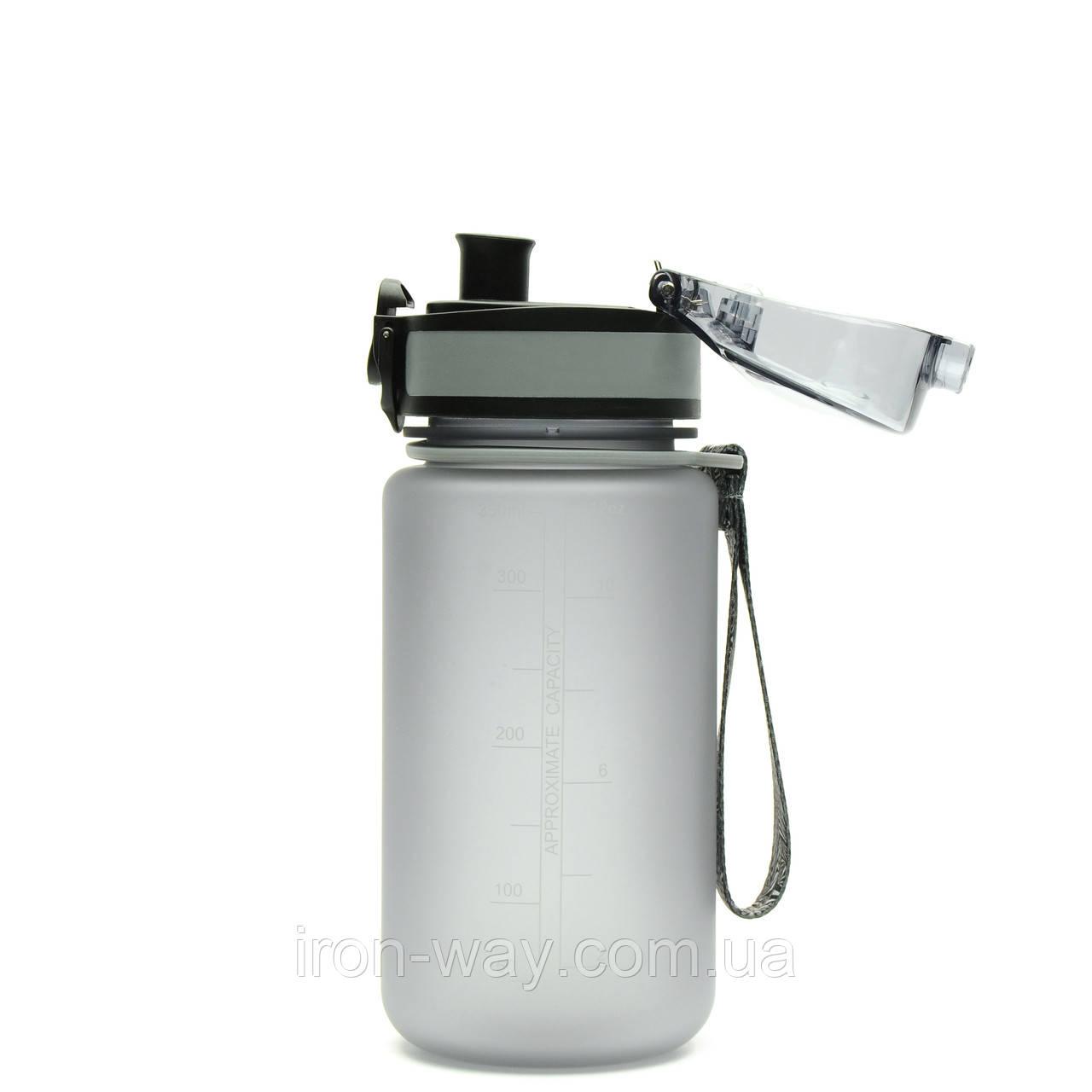 Бутылка для воды Uzspace Colorful Frosted-Tritan 350мл Серый 3034