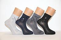 Мужские носки средние стрейчевые в сеточку,кеттельный шов,200 Мontebello 41-44 темные ассорти сетка