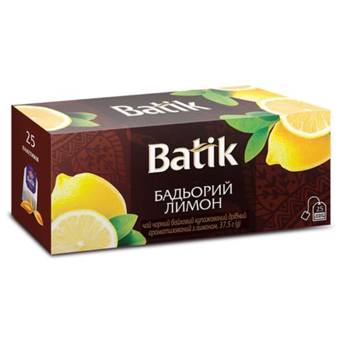 Чай с лимоном черный Batik 25 пакетиков