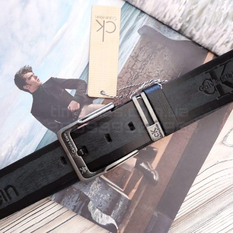 Мужской кожаный ремень Calvin Klein Черный AAA Copy