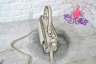 Сумка SilvlaRosa Classic каркасна бежева жіноча, фото 2
