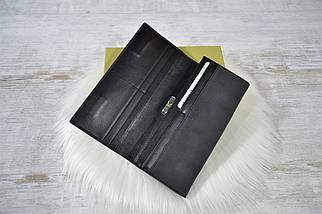 Кошелек Classic & Saralyn нубук на магнитах черный женский, фото 2