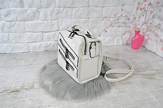 Сумка-рюкзак Молния Компакт городская белая женская, фото 2