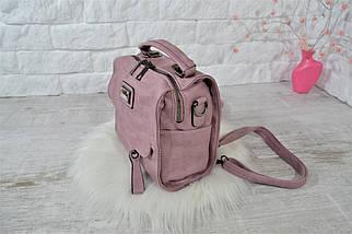 Сумка-рюкзак Fashion Lusha Компакт городская женская сиреневая, фото 2