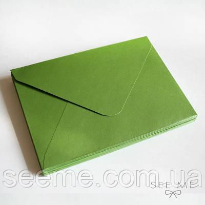 Конверт 205x140 мм, колір оливковий