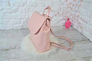 Женский рюкзак-сумочка Star .Пудровый (пудра), фото 3