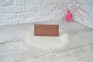 Кошелек Kohi Ромбик на магнитах пудровый женский, фото 3