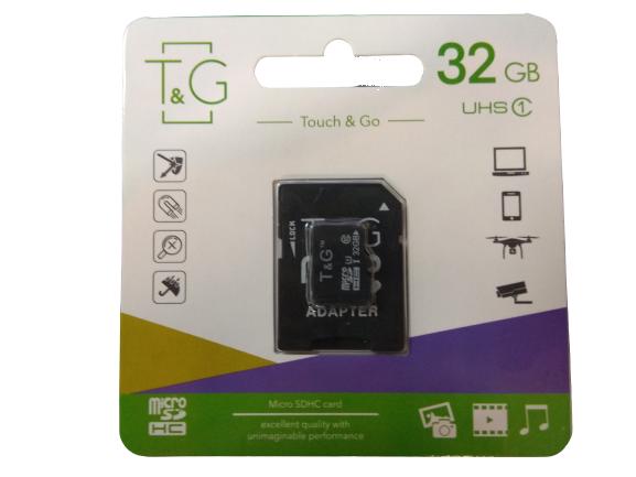 Карта памяти SD-adapter MicroSDHC UHS-I T&G 32GB